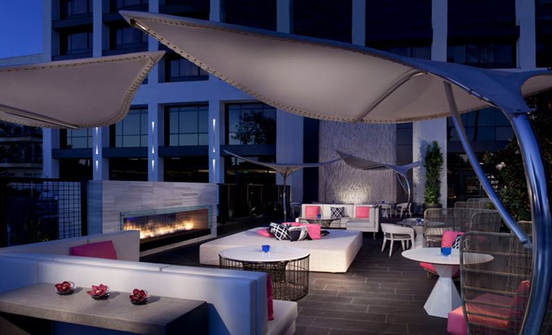 Beverly Hills Marriott Outdoor Dining
